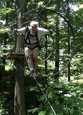 Luxury Experience - Edward F. Nesta - at Adventure Park at the Discovery Museum - photo by Luxury Experience