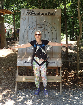 Luxury Experience - Debra C. Argen - at Adventure Park at the Discovery Museum - photo by Luxury Experience