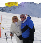 Skiing in Arosa, Switzerland - Debra C. Argen and Edward F. Nesta