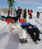 Skiing in Arosa, Switzerland - Debra C. Argen and Edward F. Nesta Relaxing