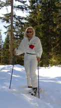 Showshoeing in Arosa, Switzerland - Debra C. Argen