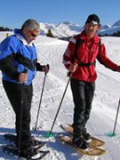 Arosa, Switzerland - Edward F. Nesta and Ernesto Showshoeing
