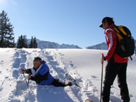 Arosa, Switzerland - Edward F. Nesta Getting Encouragement from Ernesto