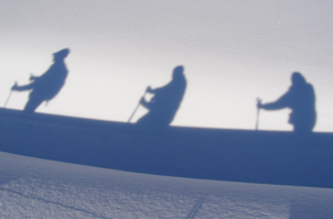 Arosa, Switzerland - Silhouettes on the Snow