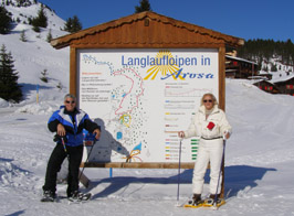 Arosa, Switzerland - Edward F. Nesta and Debra C. Argen Showshoeing