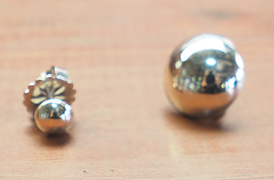 Silver  Studs - custom made - photo by Luxury Experience