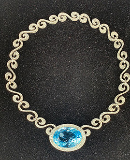 Eric Messin - Topaz Silver Necklace