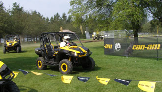 Edward Nesta running the Club BRP Off-Road Course in Side-By-Side - Photo by  Luxury Experience