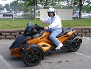 Edward Nesta on BRP Can-Am Spyder RS -  Photo by Luxury Experience