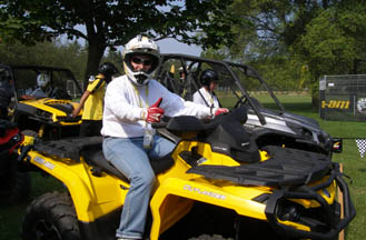 Edward Nesta in BRP Outlander ATV - Photo by Luxury Experience
