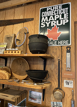 Tools of the maple syrup process  - Stamford Museum & Nature Center - photo by Luxury Experience