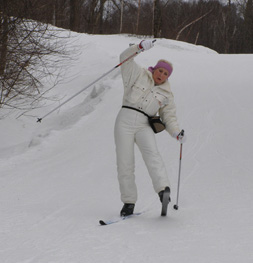 Cross-country skiing - Debra cross-country sking - Photo by Luxury Experience