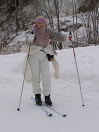 Cross-country skiing - Debra relaxing - Photo by Luxury Experience