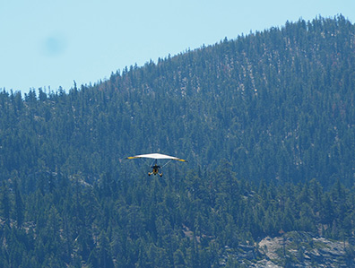 Lake Tahoe glider plane - photo by Luxury Experience