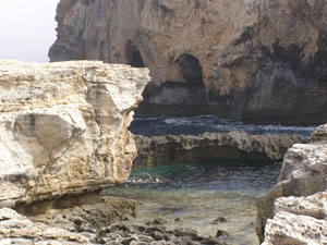 Azure Window Dive Entry Point, Gozo, Malta