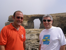 Franco Bugeja and Edward F Nesta at Azure Window, Gozo, Malta