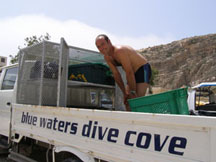 Blue Water Dive Cove Truck, Gozo, Malta