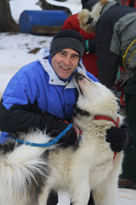 Edward with Malouk - Expedition Wolf, Quebec, Canada - Photo by Annette Faille