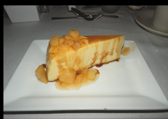 Cheese Cake - Essex Clipper Dinner Train - photo by Luxury Experience