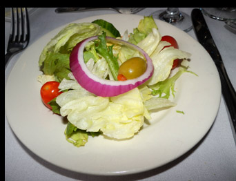 Salad - Essex Clipper Dinner Train - photo by Luxury Experience