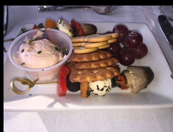 Appetizer - Essex Clipper Dinner Train - photo by Luxury Experience