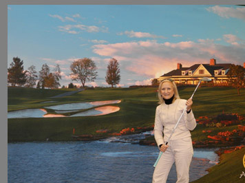 Debra Argen in Golf Dome - Shenendoah Golf Course, Verona, NY, USA - photo by Luxury Experience