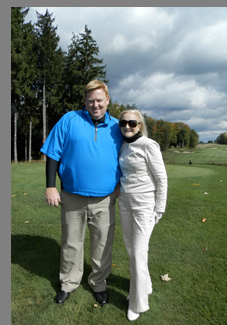 Eric Lorenzetti and Debra Argen on Shenendoah Golf Course, Verona, NY, USA - photo by Luxury Experience