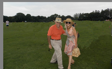 Stomping Divots at Polo Match - Edward F. Nesta & Debra C. Argen  - photo by Luxury Experience