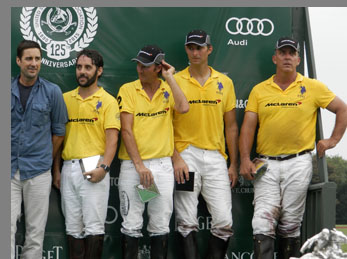 East Coast Open Polo - Luke Wilson and Team McLaren  - photo by Luxury Experience