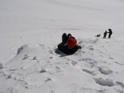 Jungfraujoch, Switzerland - Debra C. Argen sliding on this snow