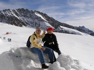 Jungfraujoch, Switzerland - Edward F. Nesta and Debra C. Argen