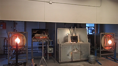 Glass making furnaces - glory hole, pipe furnace, pot furnace - photo by Luxury Experience