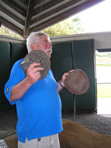 Irish National Stud, Kildare, Ireland - Tony Showing Hoof Covers