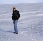 Debra on Langjokull Glacier  in Iceland - Photo by Luxury Experience