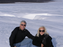 Edward and Debra on Langjokull Glacier in Iceland - Photo by Luxury Experience