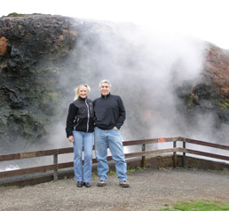 Edward and Debra at Hot Spring in Iceland - Photo by Luxury Experience