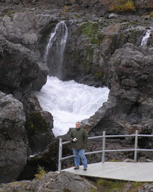 Edward at Barnafoss in Iceland - Photo by Luxury Experience
