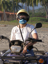 Debra C. Argen on ATV in Ixtapa, Zihuatanejo, Mexico