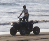 Debra on ATV in Ixtapa-Zihuatanejo, Mexico