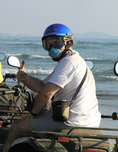Edward F. Nesta on ATV in Ixtapa, Zihuatanejo, Mexico