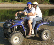 Edward F. Nesta and Debra C. Argen on ATVs in Ixtapa-Zihuatanejo, Mexico