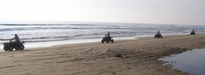 Riding Along the Beach