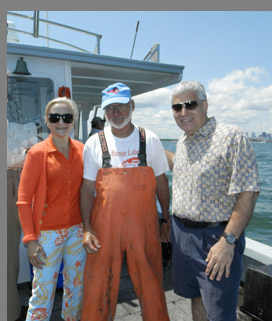 Fred Penney, Debra Argen, Edward Nesta - Lobster Excursion Boston Harbor - Photo by Luxury Experience