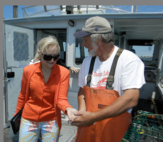 Wes Penney, Debra - lobster excursion Boston Harbor - Photo by Luxury Experience