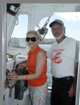 Wes Penney, Debra Argen - Lobster Excursion -Boston Harbor - Photo by Luxury Experience