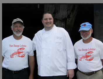 Wes Penney, Chef Adamo, Fred Penney - Lobster Excursion -Boston Harbor - Photo by Luxury Experience -
