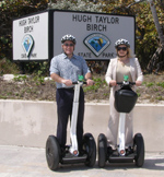 Riding Segways at Hugh Taylor Birch State Park, Fort Lauderdale, Florida