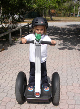 Mathieu Demonstrates Riding Segway, M Cruz Rentals, Fort Lauderdale, Florida