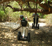 Segway off road at  M Cruz Rentals, Fort Lauderdale, Florida