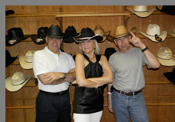 Edward Nesta, Debra Argen, Steve Nesta- Mesquite Rodeo - Mesquite, Texas - photo by Luxury Experience